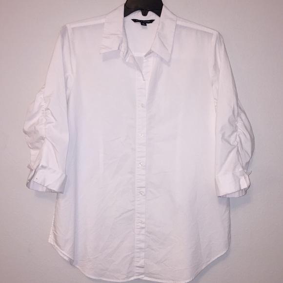 aac3c3e177db20 Zac & Rachel Tops | Zac Rachel 34 Sleeve White Button Down Shirt Xl ...